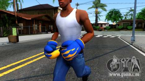 Blue With Flames Boxing Gloves Team Fortress 2 pour GTA San Andreas
