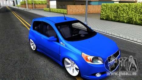 Chevrolet Aveo 2012 pour GTA San Andreas laissé vue