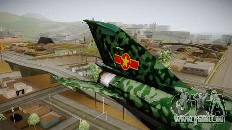 MIG-21 Norvietnamita für GTA San Andreas Rückansicht