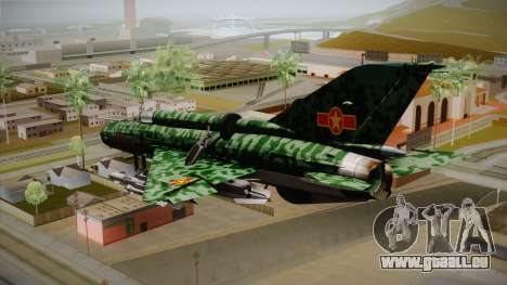 MIG-21 Norvietnamita für GTA San Andreas linke Ansicht