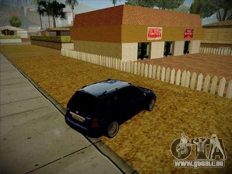 VAZ Kalina 1117 Carélie Édition pour GTA San Andreas sur la vue arrière gauche