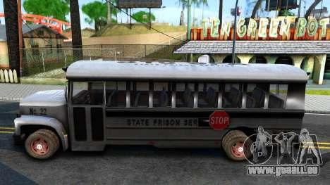 Prison Bus Driver Parallel Lines pour GTA San Andreas laissé vue