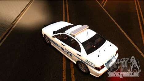 1998 Dinka Chavos Montgomery Police Department pour GTA San Andreas vue intérieure