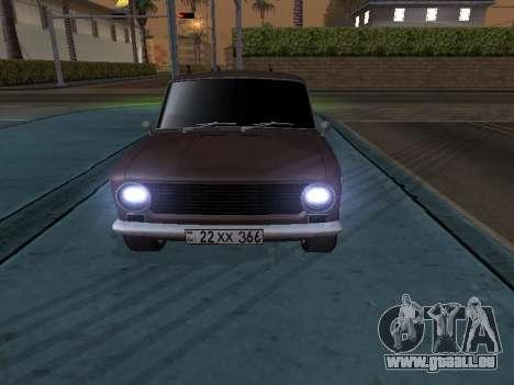 VAZ 2101 arménien pour GTA San Andreas laissé vue
