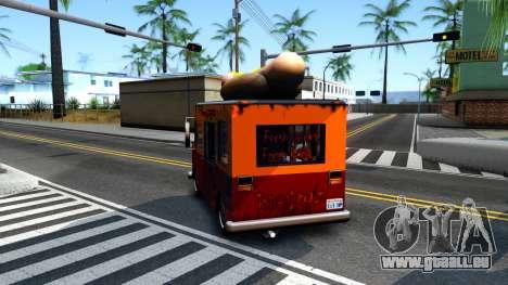 New HotDog Van für GTA San Andreas Rückansicht