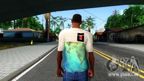 Design Galaxy T-Shirt für GTA San Andreas dritten Screenshot