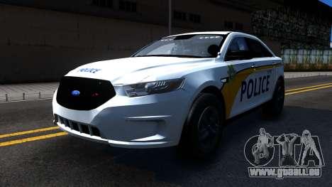 Ford Taurus Slicktop Metro Police 2013 pour GTA San Andreas