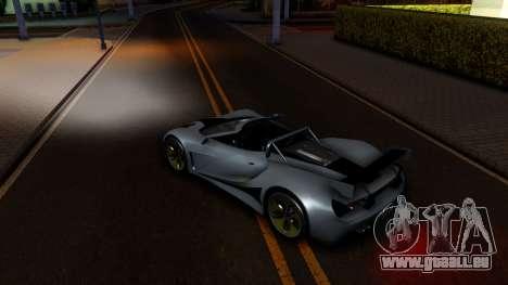 GTA V Vapid FMJ Roadster für GTA San Andreas Innenansicht
