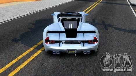 GTA V Vapid FMJ Roadster für GTA San Andreas zurück linke Ansicht