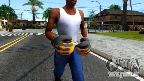Black With Flames Boxing Gloves Team Fortress 2 für GTA San Andreas zweiten Screenshot