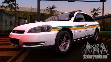 2008 Chevrolet Impala LTZ County Sheriff für GTA San Andreas Innenansicht