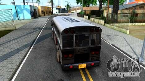 Prison Bus Driver Parallel Lines für GTA San Andreas zurück linke Ansicht