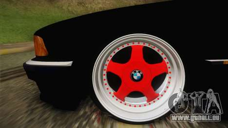 BMW 7 Series E38 Low pour GTA San Andreas sur la vue arrière gauche
