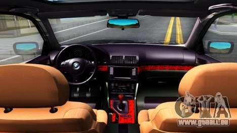 BMW e39 530d pour GTA San Andreas vue intérieure