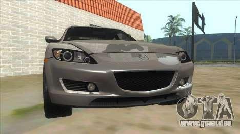NFS PRO STREET: Mazda RX-8 Tunable für GTA San Andreas Rückansicht