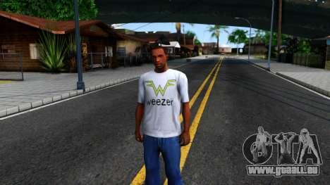 Weezer T-Shirt pour GTA San Andreas