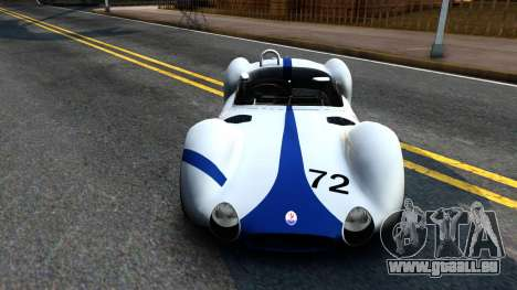 Maserati Tipo 61 pour GTA San Andreas vue arrière