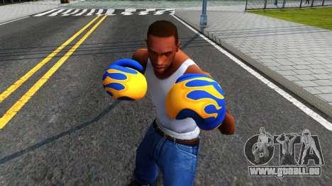 Blue With Flames Boxing Gloves Team Fortress 2 pour GTA San Andreas troisième écran