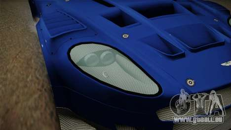 Aston Martin Racing DBR9 2005 v2.0.1 Dirt für GTA San Andreas obere Ansicht
