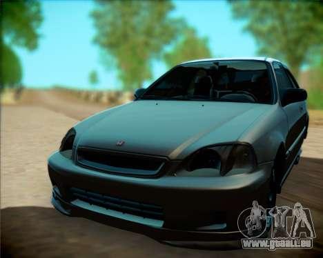 Honda Civic Hatchback pour GTA San Andreas sur la vue arrière gauche