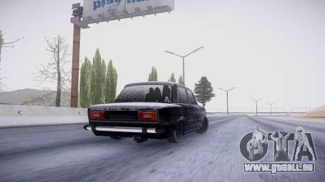 VAZ 2106 winter-version für GTA San Andreas Rückansicht