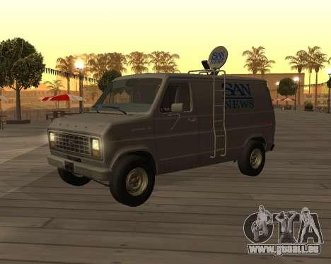 Ford E150 News Van pour GTA San Andreas laissé vue