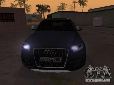 Audi Q7 Armenian pour GTA San Andreas laissé vue