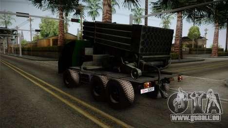 TAM 110 Serbian Military Vehicle pour GTA San Andreas sur la vue arrière gauche