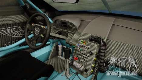 Aston Martin Racing DBR9 2005 v2.0.1 Dirt pour GTA San Andreas vue intérieure