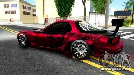 Mazda RX-7 Madbull Rocket Bunny für GTA San Andreas linke Ansicht