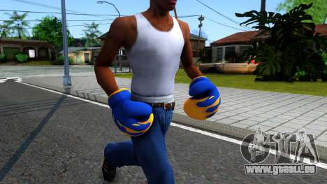 Blue With Flames Boxing Gloves Team Fortress 2 für GTA San Andreas zweiten Screenshot