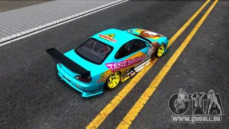 Taneshima Popura NISSAN Silvia S15 Itasha für GTA San Andreas Rückansicht