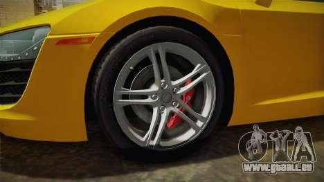Audi R8 Coupe 4.2 FSI quattro US-Spec v1.0.0 pour GTA San Andreas vue arrière