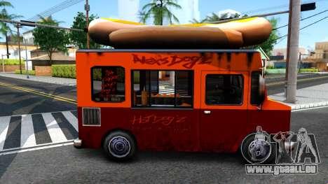 New HotDog Van für GTA San Andreas zurück linke Ansicht