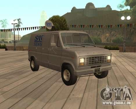 Ford E150 News Van für GTA San Andreas