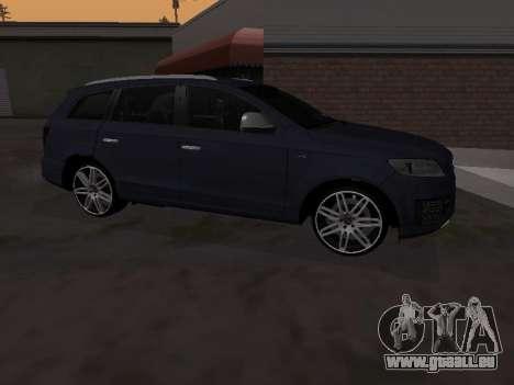 Audi Q7 Armenian pour GTA San Andreas sur la vue arrière gauche