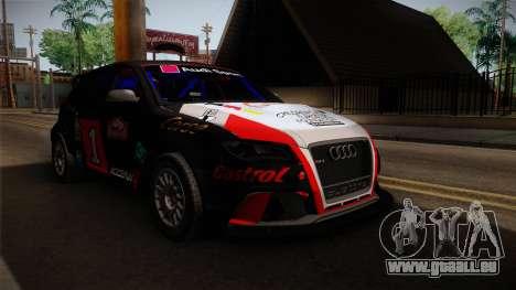 Audi RS3 Sportback Rally WRC für GTA San Andreas rechten Ansicht