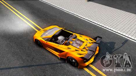 GTA V Pegassi Lampo Roadster pour GTA San Andreas vue arrière