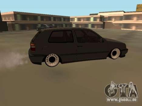 Volkswagen Golf 3 pour GTA San Andreas laissé vue