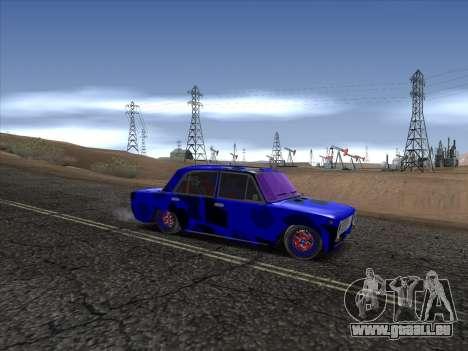 VAZ 2101 BC pour GTA San Andreas vue arrière