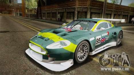 Aston Martin Racing DBR9 2005 v2.0.1 YCH Dirt für GTA San Andreas obere Ansicht