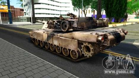 M1A1 Abrams COD4MW Remastered für GTA San Andreas Rückansicht