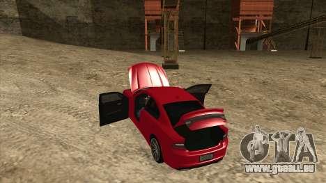 Dodge Charger R/T 2015 für GTA San Andreas Innenansicht