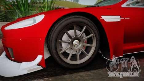 Aston Martin Racing DBRS9 GT3 2006 v1.0.6 YCH v2 für GTA San Andreas Rückansicht
