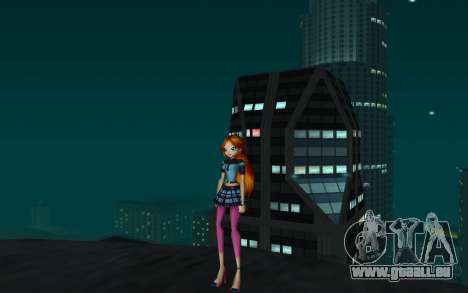 Bloom Rock Outfit from Winx Club Rockstar für GTA San Andreas zweiten Screenshot