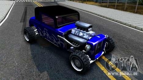 Duke Blue Hotknife Race Car pour GTA San Andreas laissé vue