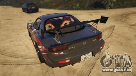 GTA 5 Mazda RX-7 Asuka arrière vue latérale gauche