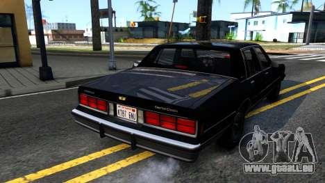 Chevrolet Caprice Brougham 1986 pour GTA San Andreas laissé vue