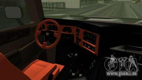 Hummer H2 6x6 Monster pour GTA San Andreas vue intérieure