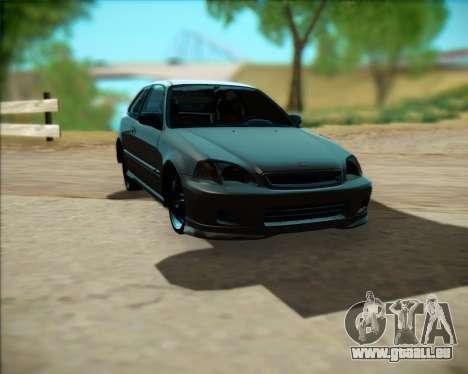 Honda Civic Hatchback pour GTA San Andreas laissé vue